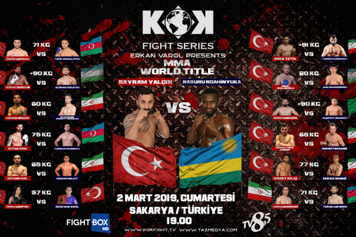 The fight Card for KOK World Series event in Turkey – 02.03.2019