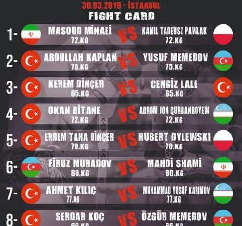 KOK World Series: Istanbul Results 30.03.2019
