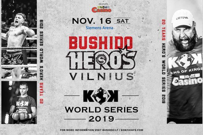 KOK WORLD SERIES 2019 & MMA BUSHIDO HERO'S 16.11.2019