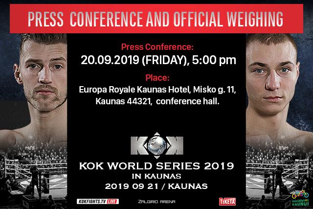 "Press conference 20.09.2019 -""KOK World Championship 2019"""