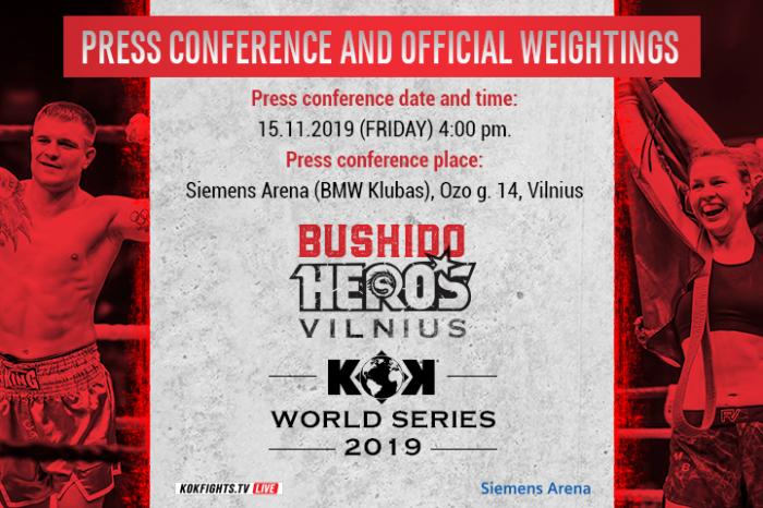 """Press conference 15.11.2019 -""""KOK World Series  2019 in Vilnius"""""""