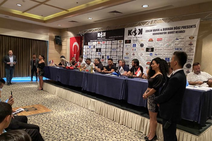 Moments from press conference in Turkey
